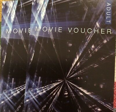 Two Movie Tickets, Adult, - Valid For Any Standard Session - Very Long Expiry