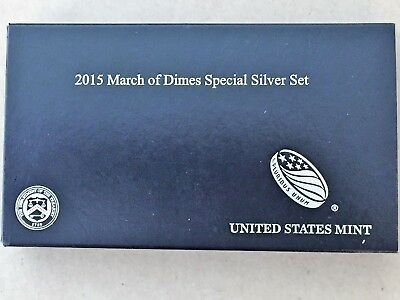 2015 March Of Dimes special silver set/with packaging & COA