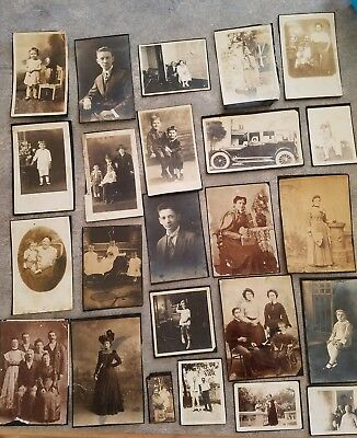 lot of 24 early 1900's photos black and white photos scrapbook antique