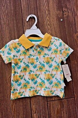 Nwt$28 Rosie Pope- Baby Printed Polo Sz: 12M