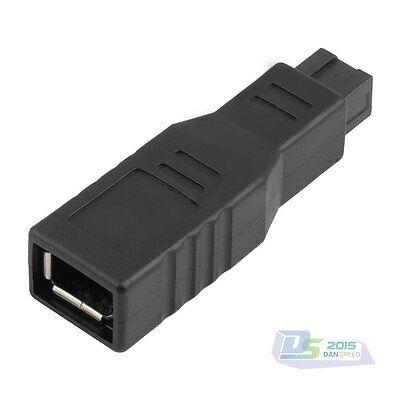 Firewire 800 to 400 Adapter Male 9 Pin to Female 6 Pin IEEE 1394 a-b Converter