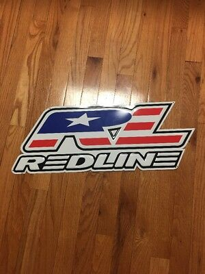 Redline BMX Metal Tacker Bicycle Bike Store Dealer Sign Proline Old School