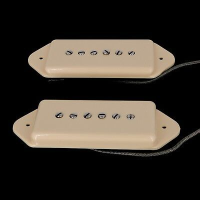 Lindy Fralin 5/% Overwound P-90 Dogear Pickup Set P90 Cream Covers