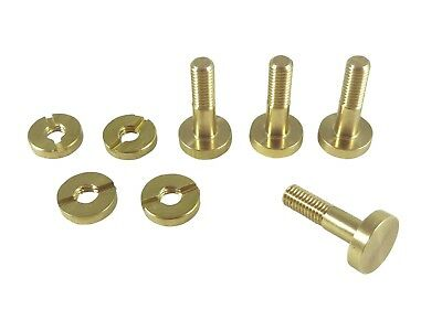 4 Pc Set Solid Brass Saw Bolts & Split Nuts for Replacement & New Saws 115721