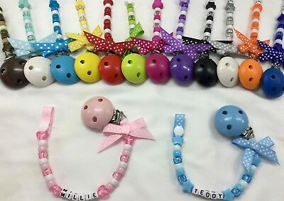 ❤ Personalised Dummy Clip ❤ Up To 12 Letters ❤ Many Colours ❤ Buy 3 Get 1 Free ❤