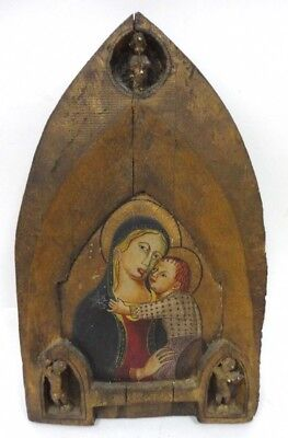 Antique Lippo Vanni 14Th C. Original Jesus Oil Painting Old Rare Power Art Relic