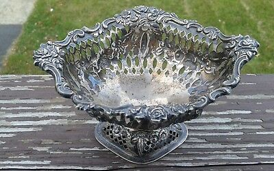 Beautiful antique sterling silver Williams  Neale basket / Bowl c late 1800's