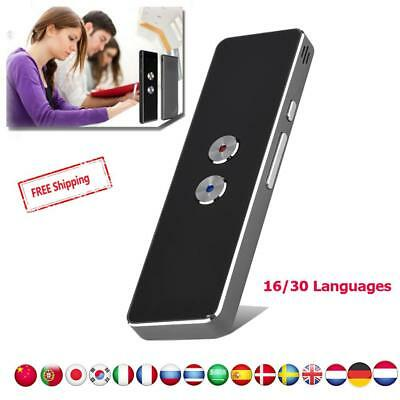 Pocket Smart Translator Bluetooth 16/30 Lot Languages Travel For Android IOS