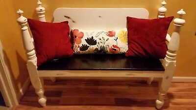 Upcycled Antique Headboard/Footboard Bench One of a kind!