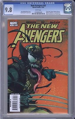 New Avengers #35 CGC 9.8 Leinil Yu cover Bendis story VENOMIZED WOLVERINE MARVEL