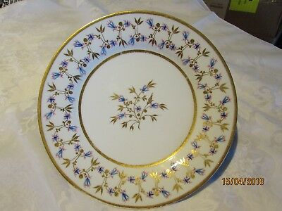 Antique Barr Flight & Barr Worcester Porcelain Plate w Gold Gilt Leaves