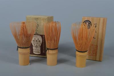K7548: Japanese Bamboo TEA WHISK Chasen 3pcs, Tea Ceremony