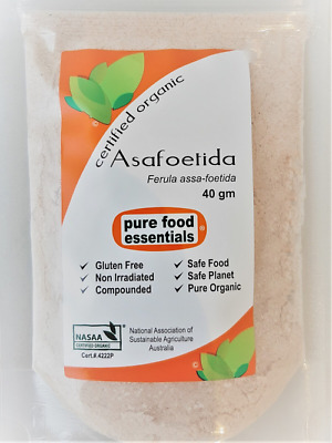 Asafoetida - Certified Organic / NASAA certification - Pure Food Essentials
