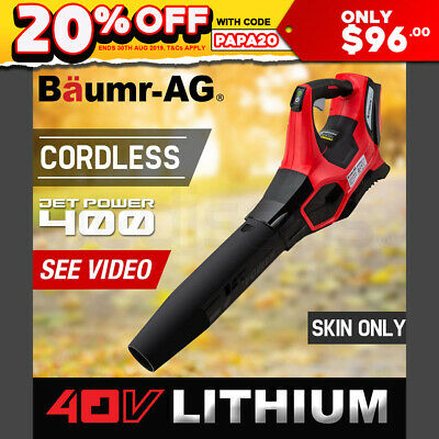 Baumr-AG Cordless Electric 40V Leaf Blower - Lithium Powered Garden Power Tool