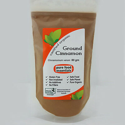 Ground Cinnamon (80g) - Certified Organic by NASAA - Pure Food Essentials