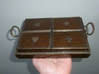 A Victorian Lacquered Wood Card Game Counter/Chip Boxes c1890/1900