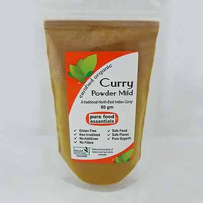 Curry Powder Mild (80g) - Certified Organic by NASAA / Pure Food Essentials
