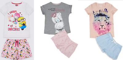 Girls pyjama short M & S Tatty teddy age 4 5 6 7 8 9 10 11 12 13 14 15 16