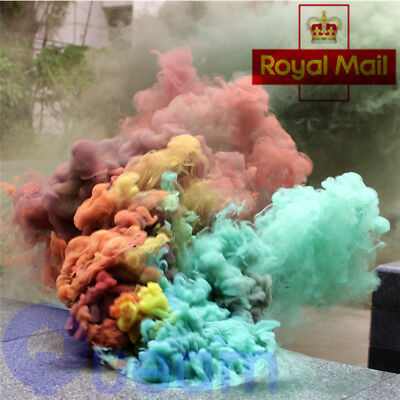 UK Smoke Cake Colorful Smoke Effect Show Round Bomb Photography Aid Toy Divine