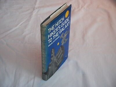 Douglas Adams - Hitchhikers Guide To Galaxy - Uk Hb Dj 1980 -Vg+ Cond - Unread