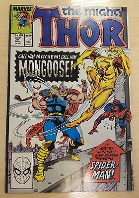 THOR # 391<>MARVEL COMIC<>1988<>RON FRENZ / TOM DeFALCO<> Excellent