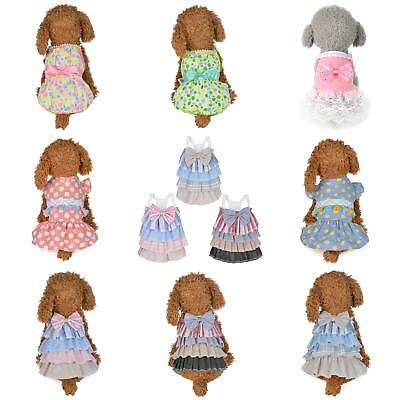 Pet Puppy Dog Cat Lace Skirt Princess Tutu Dress Summer Clothes Apparel Strict