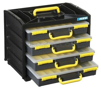 Multi Drawer Parts Storage Cabinet Organizer Home Garage Tool Box Fervi C313