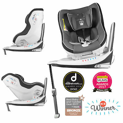 New Cozy N Safe Black Merlin 360 Group 0+/1 Reclining Isofix Baby Car Seat