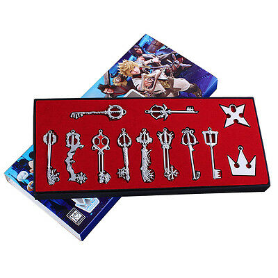 Kingdom Hearts Set of 12x Metal Keyblade Keychain Sword Weapon Collectable Toys