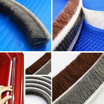 Door Bottom Brush Strip Excluder Draft Sealing Door Window Noise Insulation New