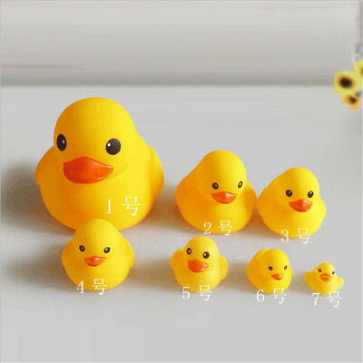 Hot Sell Baby Bath Toy Set Squeezing Rubber Duck Kids Water Bathing Yellow Duck
