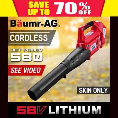Baumr-AG Cordless Electric 58V Leaf Blower - Lithium Powered Garden Power Tool
