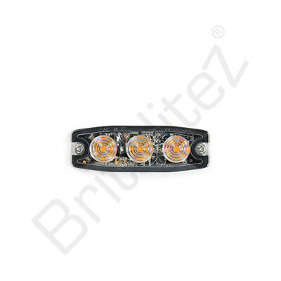Amber Strobe Hazard Warning Lamp Light Ultra Thin LED