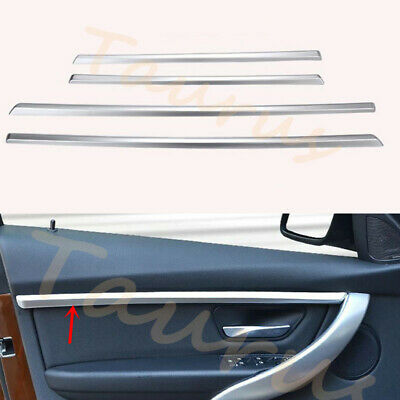 4X ABS silver Interior door trim for BMW 3 series F30 short axis version 2013-17
