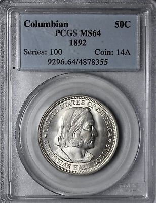 1892 Columbian Exposition Commemorative Silver Half Dollar PCGS MS64