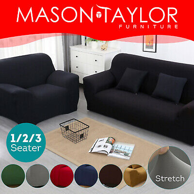 Mason Taylor Stretch Couch Sofa Lounge Cover Slipcover Protector 1/2/3 Seater