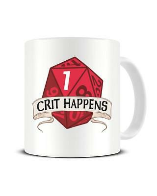 Crit Happens 12 Sided Dice Rpg Dungeons And Dragons Coffee