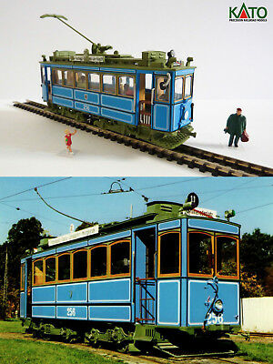 Munich Rathgeber 1901 tram HO/N gauge (HOe) - motorized with figures KATO ATLAS