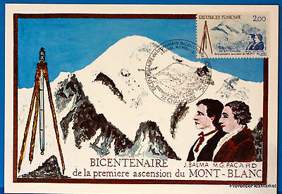 Yt Has 2422 MOUNT WHITE FRANCE CARD MAXIMUM 1° DAY FCP