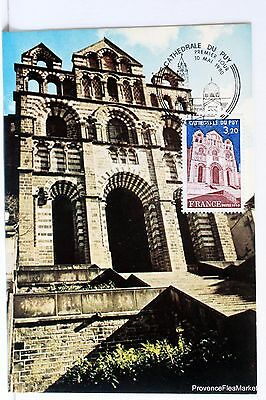 Yt 2084 THE CATHEDRAL OF THE PUY FRANCE CARD MAXIMUM 1° DAY FCP