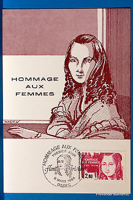 Yt Has 2303 TRIBUTE WOMEN FRANCE CARD MAXIMUM 1° DAY FCP