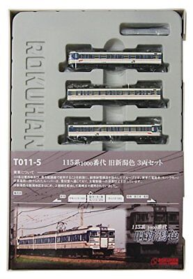 Rokuhan T011-5 Z Scale JR Series 115-1000 Suburban Train Old Niigata Color 3 Car