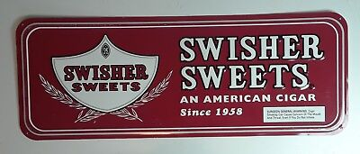 Rare Vintage Swisher Sweet Cigar Sign Metal Swisher Sweet Advertisment Sign