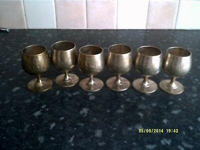 6 silver plated goblets