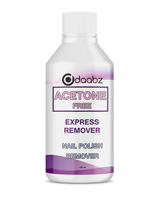Acetone Free Nail Polish Nail Varnish Remover Use With Acrylic False Nails 100ml