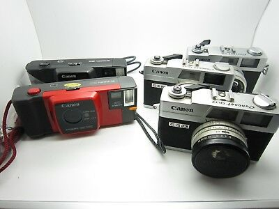 Canon Canonet QL17 G-III QL Rangefinder Camera LOT *AS-IS* Parts Snappy Display