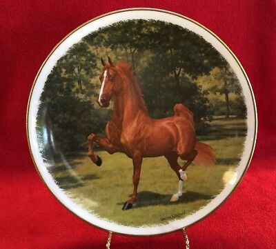 1977 World Grand Champion 5 Gaited American Saddle Horse #20/1000 RARE Col.Plate