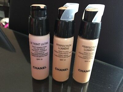 Chanel perfection lumiere teint fluid 2x20 ml,beige 30,40 le teint ultra 1x20ml