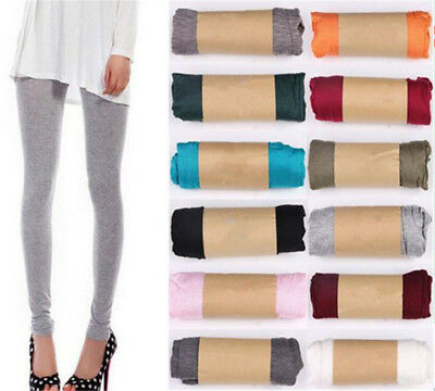Fashion Women's Sexy Stretchy Skinny High Waist Cotton Leggings Pants 17Colors