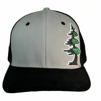 55899ed6faa Curved Bill Redwood Puff Custom Stretch Fit Hat Skateboard Humboldt Clothing  Co